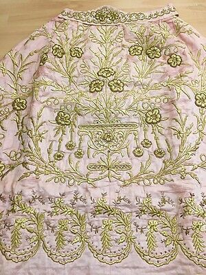 19th ANTIQUE OTTOMAN-TURKISH GOLD METALLIC DIVAL HAND EMBROIDERIED BRIDAL SKIRT