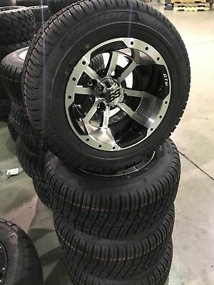 "Blowout Golf Cart 10"" Storm Trooper Wheels & 205 50 10 Low Profile Tires (4)"