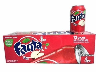 Fanta Apple. American Import (Pack of 24) 355ml Cans - Free Shipping