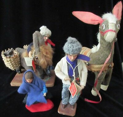 FOUR VINTAGE 'JAY of IRELAND' CHARACTER DOLLS
