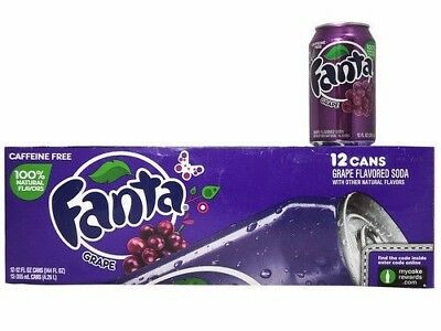 Fanta Grape. American Import (Pack of 12) 355ml Cans - Free Shipping
