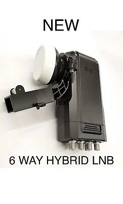 Sky 6 Way Hybrid & Dish & Fixtures & Fittings For Q & Sky+Hd