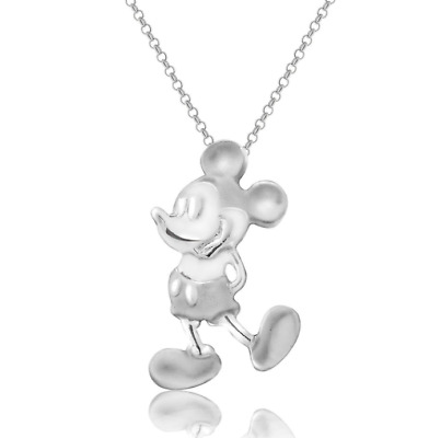 .925 Sterling Silver Disney Park Authentic Necklace✿Mickey Mouse Gift Ready Box