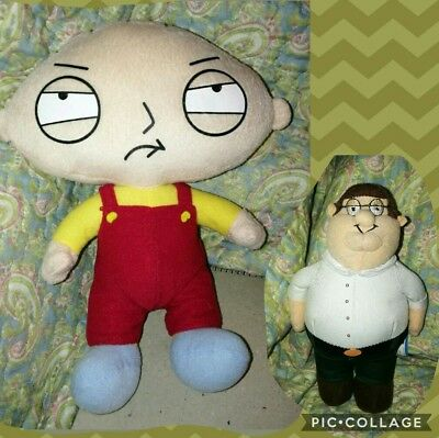 """Stewie Griffin from Family Guy 10"""" Plush & Peter Griffin plush 20th century Fox"""