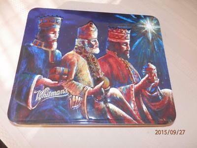 3 Wise Men  -  Russell Stover - Decorative  Christmas  Tin Can - Hinged Lid
