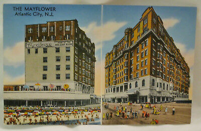 The Mayflower Hotel & Motel Atlantic City New Jersey Postcard