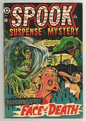 SPOOK Comics issue 26 featuring The FACE of DEATH cover by L.B. Cole!