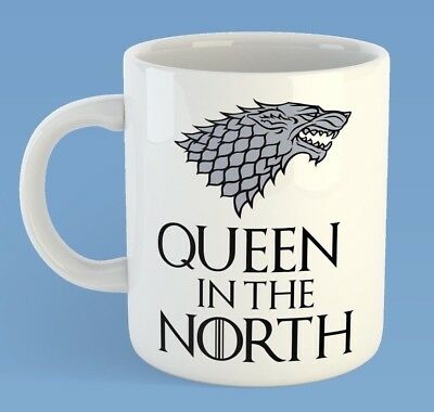 Queen In The North Game Of Thrones Inspired Mug (can be personalised)