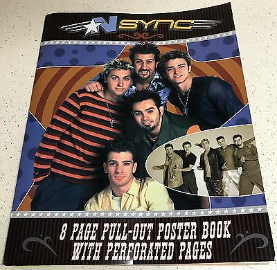 N Sync Justin Timberlake 8 Page Pull Out Posters Book No Strings Attached 2001