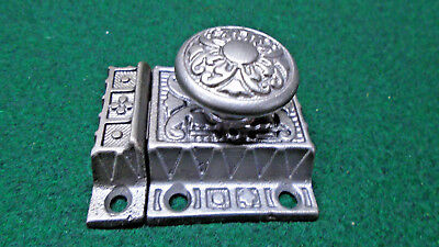 VINTAGE EASTLAKE CABINET LATCH w/ TURN KNOB & MATCHING KEEPER   (9616)