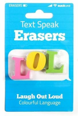 LOL Text Speak Novelty Erasers - Fun Rubbers Office Desk School Stationary Gift