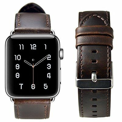 Apple Watch Series 3/2/1 Genuine Leather Strap 42mm Replacement Coffee New Band