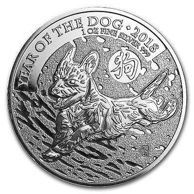 2018 Great Britain 1 oz Silver Year of the Dog BU - Lot of 20