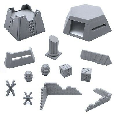 Scenery Bundle, Tabletop 28mm Miniatures Wargame, 3D Printed and Paintable