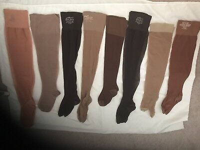 New Women's Knee High Nylon Stockings Size Large 8 Pairs Lots