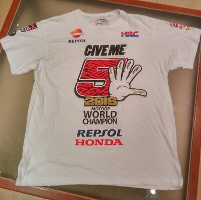 "Camiseta ""give Me 5""  - Moto Gp World Champion -  Repsol/honda- 2016 (Talla Xl)"