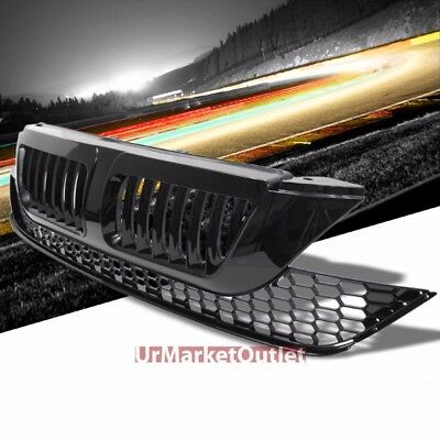 Black Vertical Style Replacement Front Grille For Honda 07-09 CR-V 2.4L DOHC