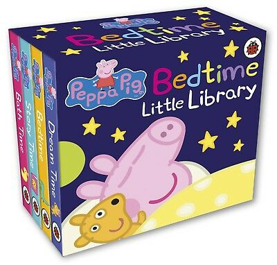 Peppa Pig Bedtime Little Library NEW Board Children Book Baby Toddler Mini Set