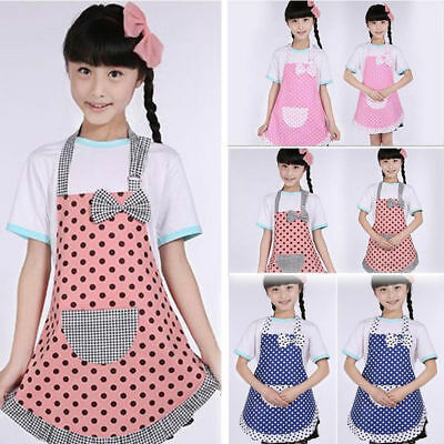 Princess Arts & Craft Apron Smock Girls Kids Baking Kitchen Cook Chef Apron Pink