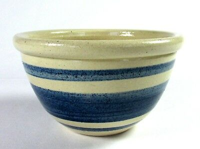 MPC Mini Mixing Bowl Blue Bands Hand Painted Edgerton WI 4""