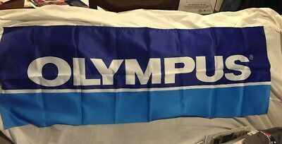 "Vintage Olympus Camera Dealer Store Sign Banner #C119 Japan 46""L 1980-90's *NEW"