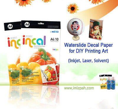 80 Incals, INKJET CLEAR Waterslide Decal Papers