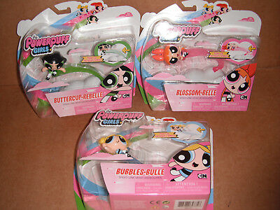 The Powerpuff Girls - Speed Line Vehicles - Blossom,Buttercup,Bubbles Set NEW