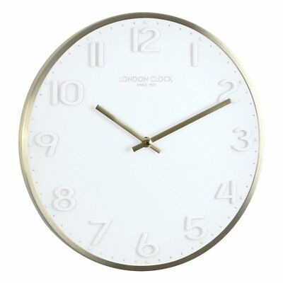 London Clock Company Elvie Silent Sweep White Wall Clock 30cm **FREE DELIVERY**