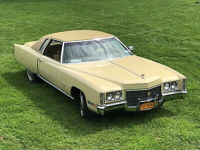 1971 Cadillac eldorado, Casablanca Yellow, Mint Condition, 50K miles, 500 ci