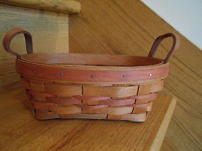 Longaberger  Small Oval Mother's Day Basket Oval Rose Pink weave *free shipping*
