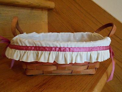 Longaberger  Small Oval Mother's Day Basket Set liner protector *free shipping!*