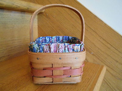 Longaberger Touch of Pink Potpourri Basket Set liner protector *free shipping!*