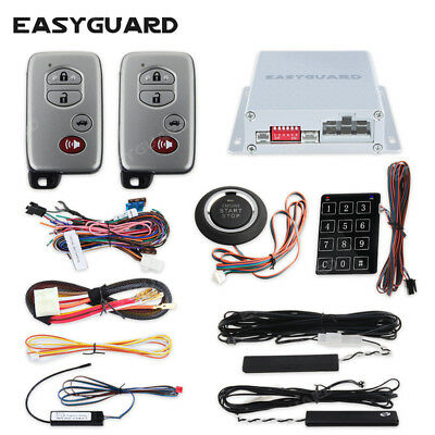 EASYGUARD PKE Car Alarm System Remote Engine Start Push button Start keyless go