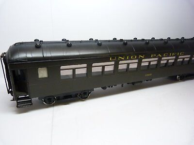 Precision Scale Co. O brass Harriman car. Painted Union Pacific 1123, boxed.