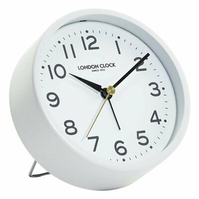 London Clock Company Hoxton Silent Sweep White Alarm Clock **FREE DELIVERY**