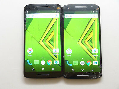 Lot of 2 Motorola Moto X Play XT1563 Unknown Carrier Smartphones As-Is