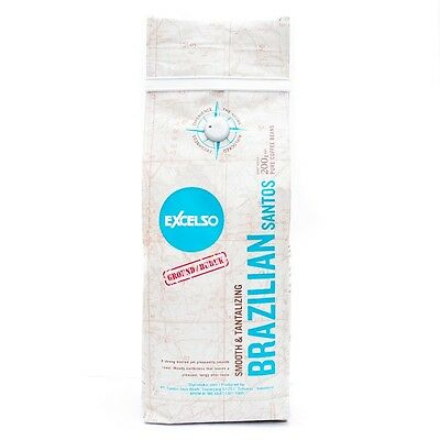 Excelso Brazilian Santos Coffee 200g Ground Original Selected 100% Premium