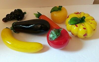 various glass fruit vegetables a wonderful set in excellent condition