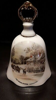 Currier and Ives The snow storm bell Japan