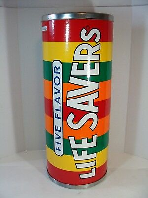 RARE LIFE SAVERS CANDY LARGE DISPLAY BIN/CANISTER for store display
