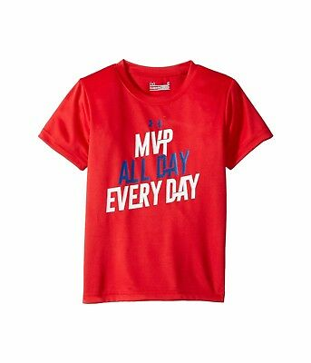 Under Armour Boys Mvp All day Every Day short sleeve toddler 3T Red
