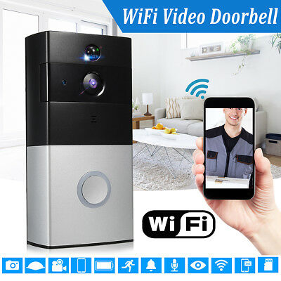 Wireless WiFi Battery Smart Home HD Video Doorbell Phone Camera Security Talk AU
