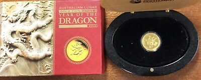 2012 year of the dragon 1/4 oz gold coin - Perth mint