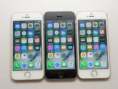 Lot of 3 Apple Iphone SE A1723 Sprint 16GB Smartphone AS-IS