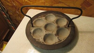 Antique Cast Iron Cook Stove Ebelskiver
