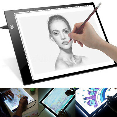 Adjustable Brightness A4 LED Stencil Board Drawing Tracing Light Box Pad AU NSW
