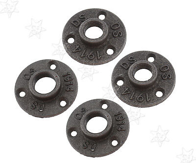 Iron DN15 Decorative Malleable Floor Wall Flange Furniture Pipe Fittings Plate