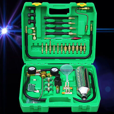 Non Dismantle Bring Car Fuel Injector Tester Cleaning System Kit Green C37LJ