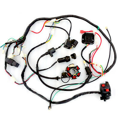C37LJ Wiring Harness Coil Solenoid ATV Quad Buggy Go Kart Bring For GY6 150cc
