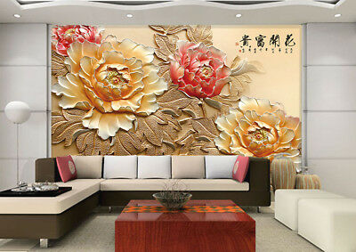 3D Flowers Wealthy 736 Wall Paper Murals Wall Print Wall Wallpaper Mural AU Kyra